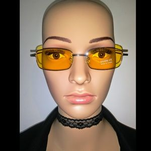 Yellow vintage accent Sunglasses